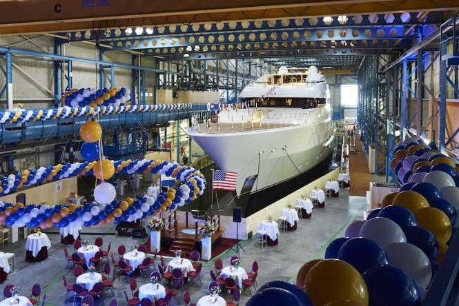 Superyacht VANISH launch