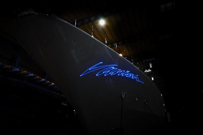 Vanish logo at night