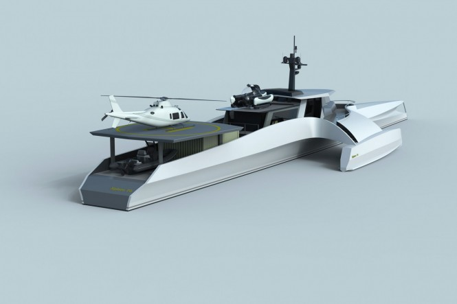 XPLORE 70 design - aft view