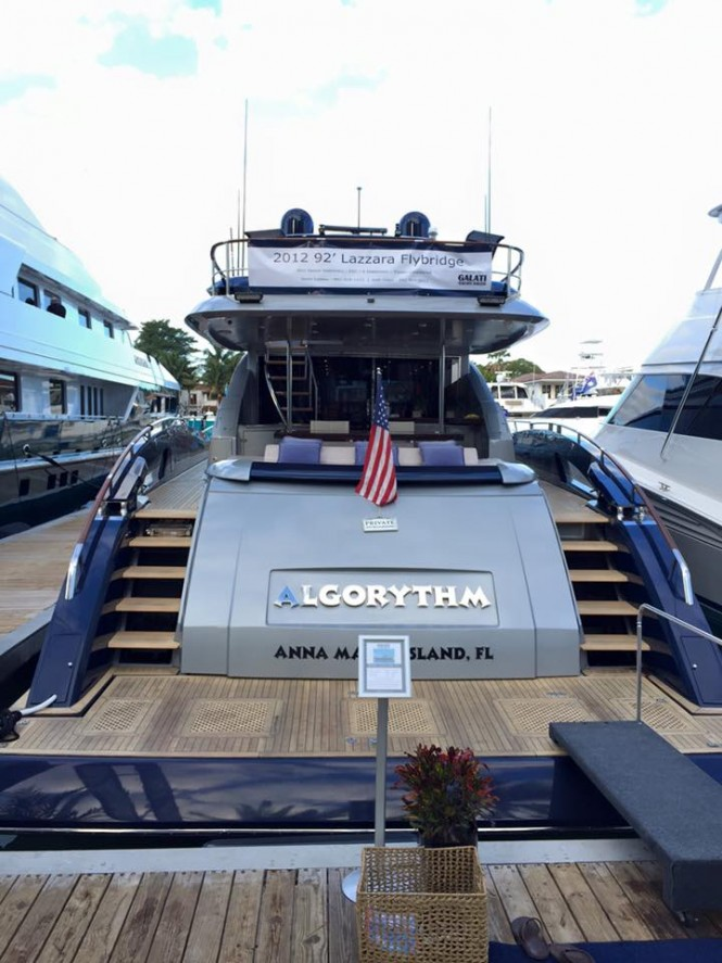 92ft Lazzara Flybridge ALGORYTHM on display at Yachts Miami Beach 2016