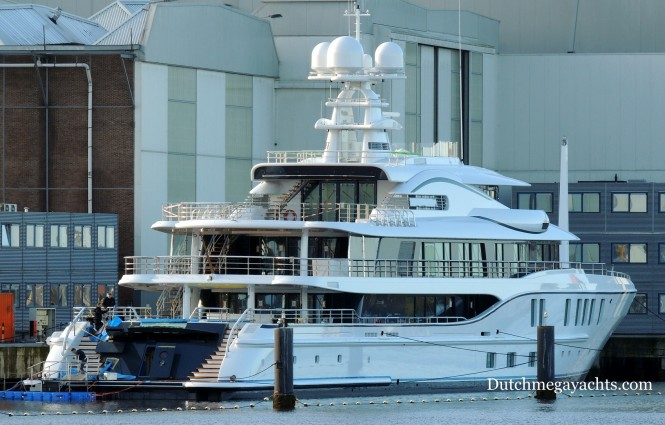 AMELS 242 Project FREEFALL - aft view - Photo by Dutchmegayachts