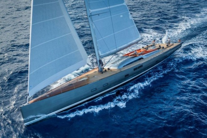 Baltic 115 NIKATA under sail - Photo by Guido Cantini