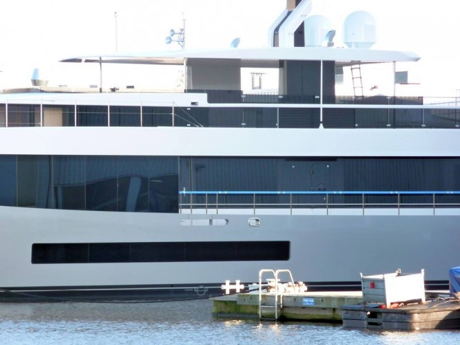 Closer look at Hull 692 - Photo by Hanco Bol and Feadship Fanclub