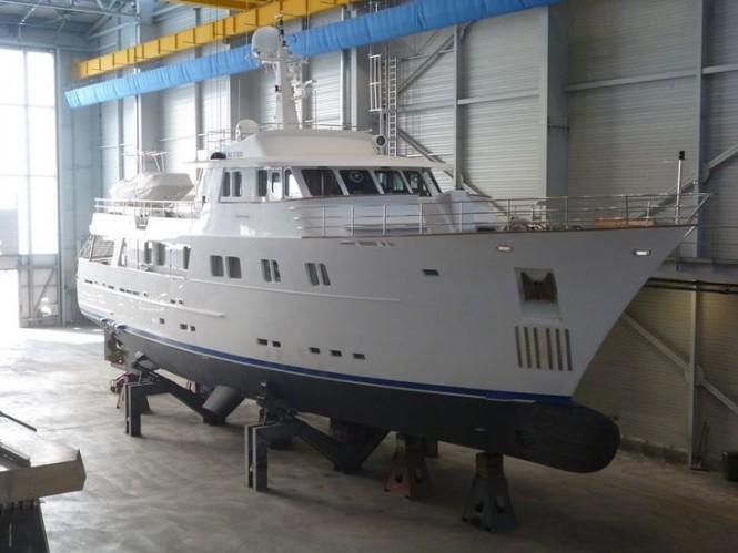 ESPIRITU SANTO at OCEA shipyard for refit work