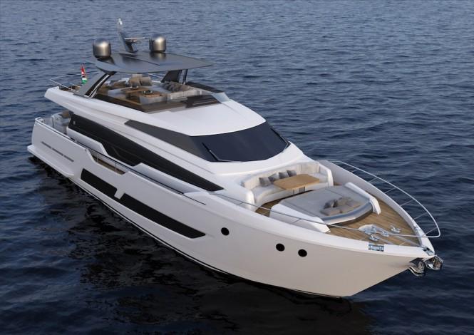 Ferretti Yachts 850 bow view