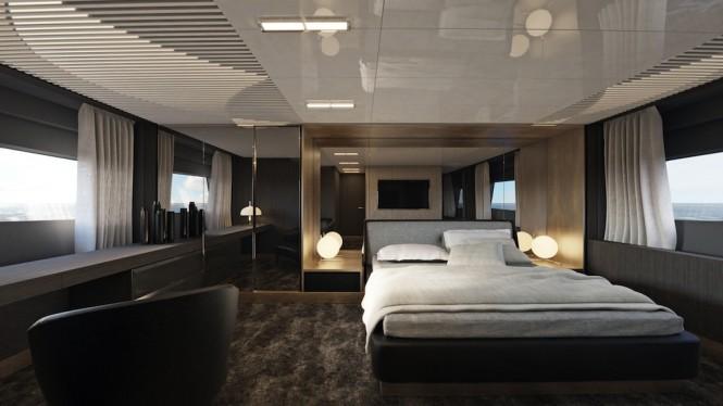 Ferretti Yachts 850 - master cabin