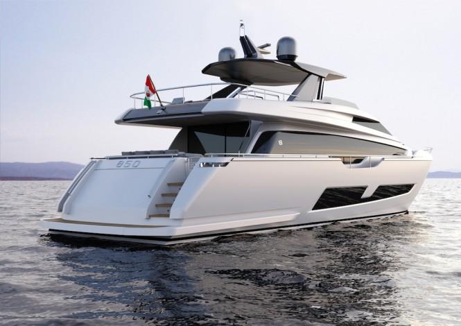 Ferretti Yachts 850 stern