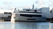 Hull 692 by Feadship just launched - Photo by Hanco Bol and Feadship Fanclub