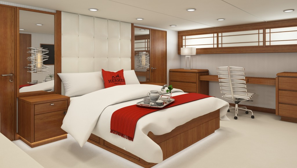 Karen lynn interiors refit design for 32m broward yacht for Burowand design