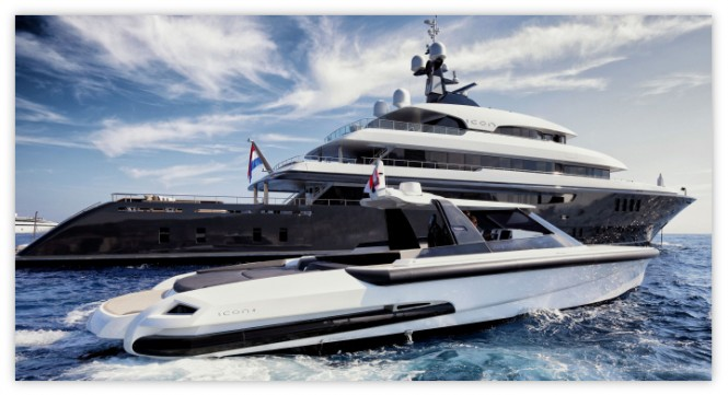 Luxury Yacht ICON and Ribbon R45SC