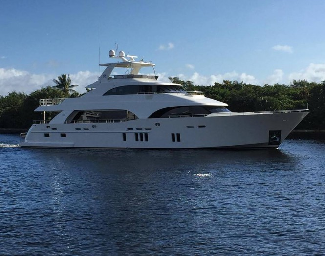 New Tri-Level Ocean Alexander 112 heading to Yachts Miami Beach - Image by Ocean Alexander Yachts