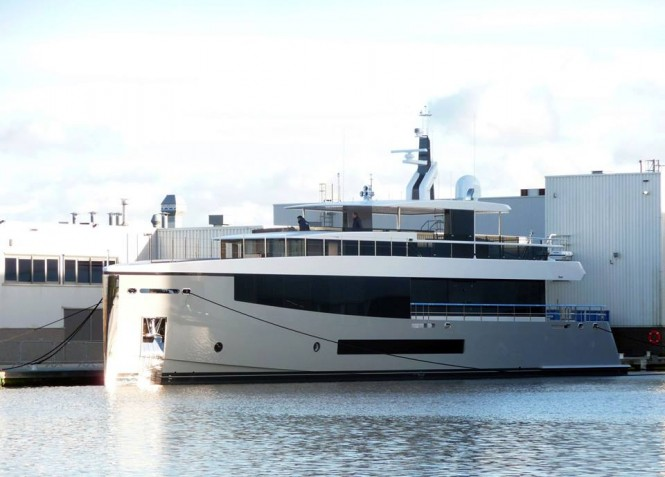 Newly launched Hull 692 - Photo by Hanco Bol and Feadship Fanclub