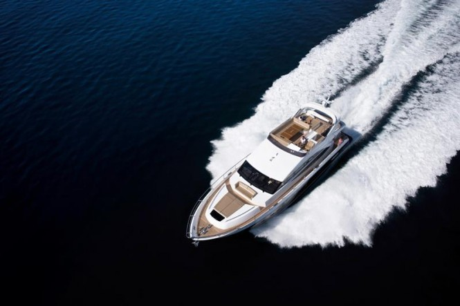 Princess 72 from above
