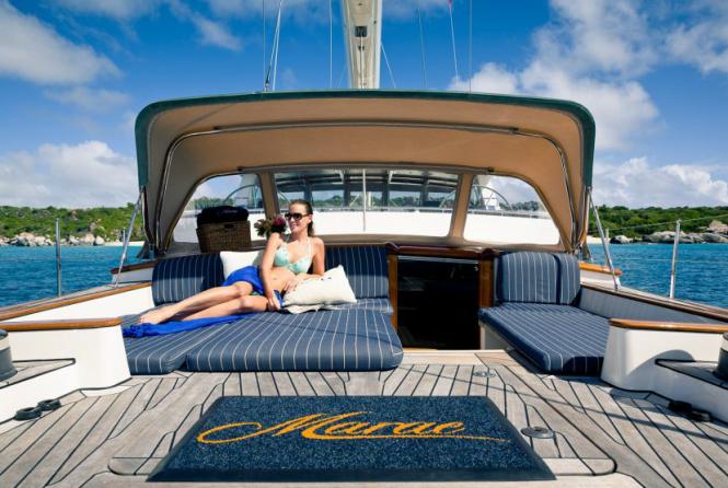 Relaxing aboard MARAE
