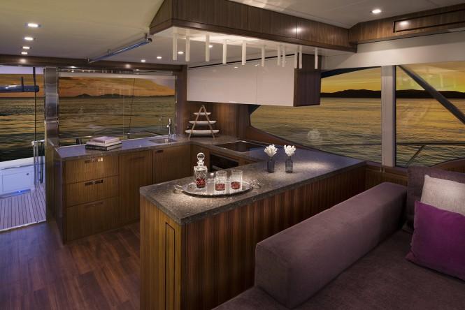 Riviera 77 Enclosed Flybridge - Galley
