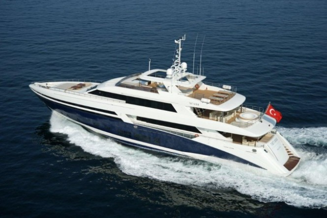 TATIANA available for charter in the Mediterranean