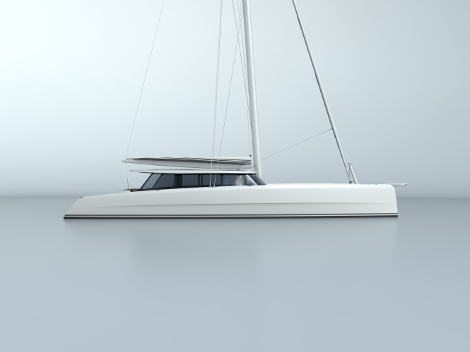 Vantage 86 catamaran - side view