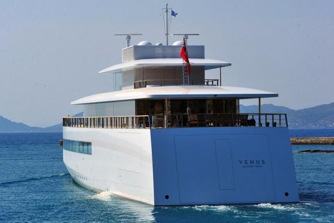 Eye Catching 78m Feadship Superyacht VENUS Passing Through Corinth