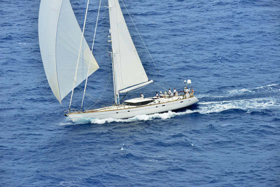 Zig Zag under sail - Image credit to Oyster Yachts