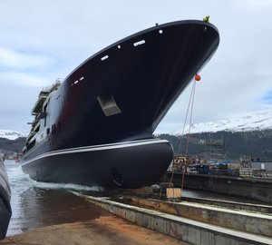 116m Kleven Long Expedition Superyacht Support Vessel Hits Water