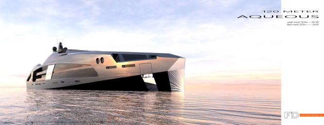 120M AQUEOUS Superyacht concept
