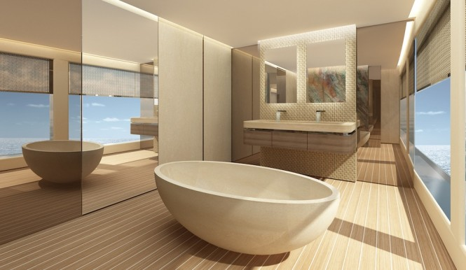 54m Superyacht Project by m2atelier - bathroom