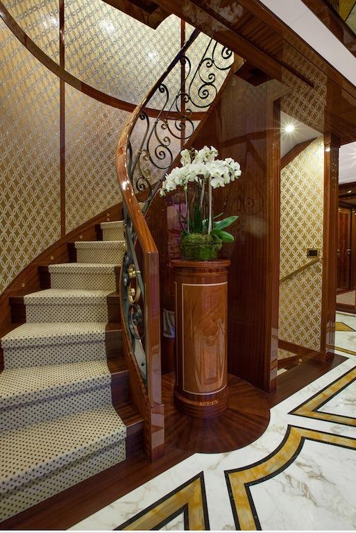 GAZZELLA - Main Deck Hallway-Guests' staircase