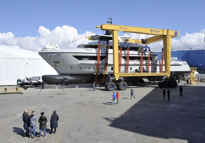 Sanlorenzo 460Exp yacht X at launch