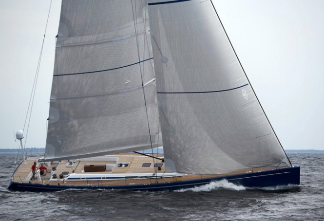 The 25m sailing yacht Swan 80-680