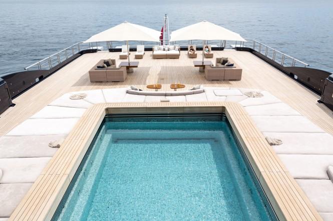 Explorer Yacht LUNA'S Aft Pool