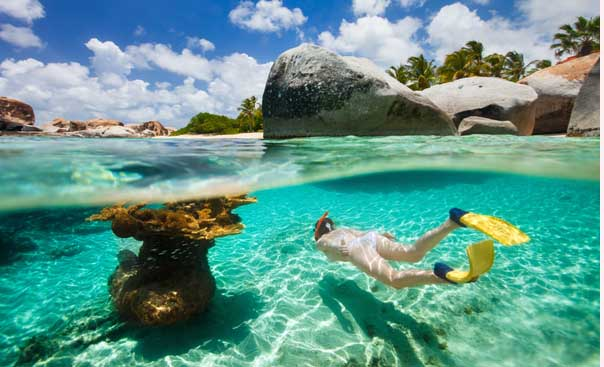 The Virgin Gorda, BVI. Snorkelling