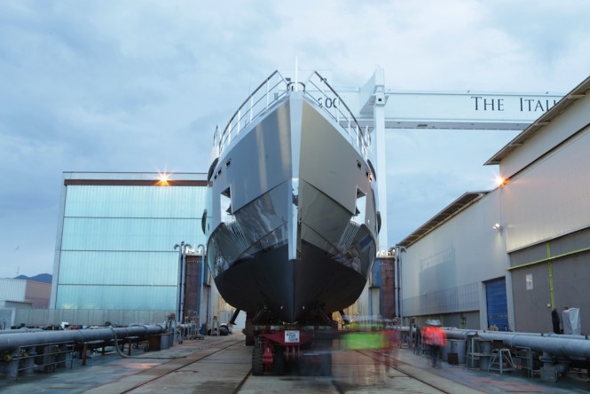 Admiral Impero 38 superyacht TREMENDA at launch in Italy