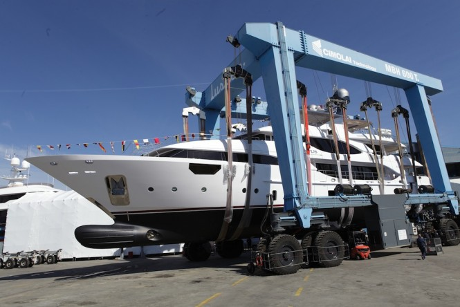BENETTI Crystal 140 superyacht EQUUS at launch