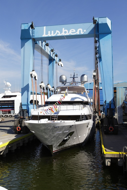 BENETTI Crystal 140 yacht EQUUS at launch