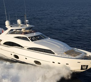 Ferretti 97 Luxury Yacht ANNE MARIE Offering 10% Off Naples Charter Vacations
