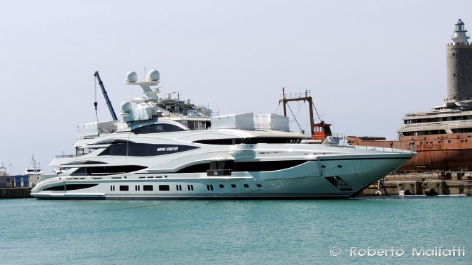 FB 262 Superyacht at Benetti in Italy  - Photo by Roberto Malfatti