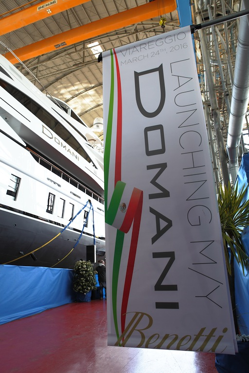 Launching of M/Y DOMANI