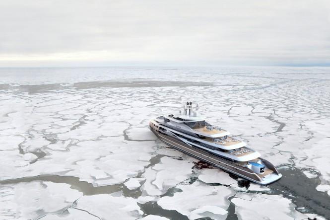 Luxury motor yacht SEA HAWK project – Image Credit to Patrick Kelley