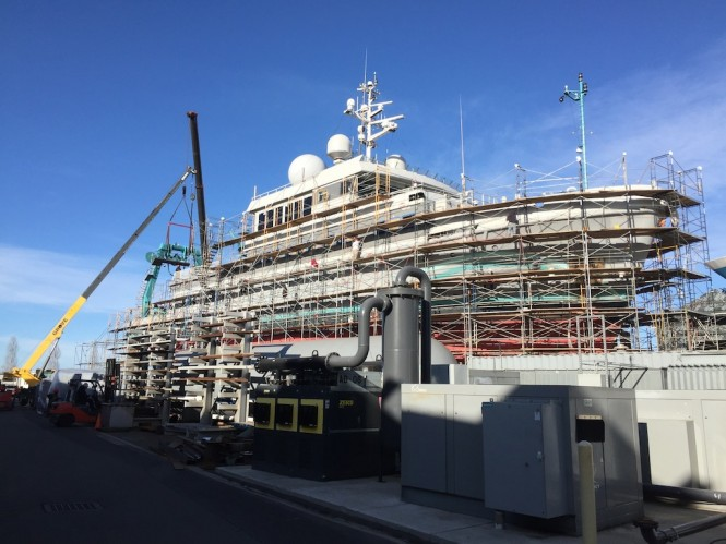 ALUCIA under refit in New Zealand by Diverse Projects in 2016