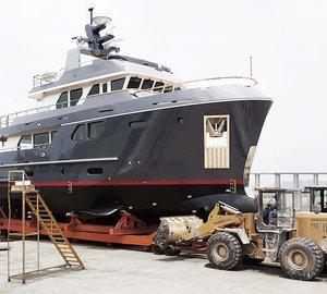 Luxury Motor Yacht VEDA Splashes at Bering Yachts