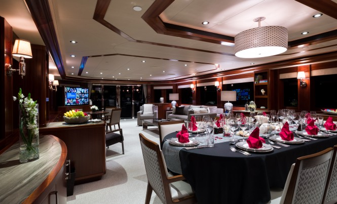 Elegant Dining and Saloon for any occasion aboard W by Westport