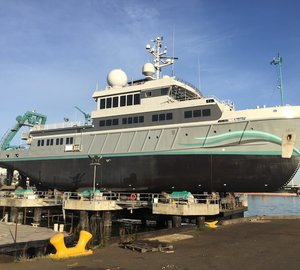 Star of David Attenborough's Great Barrier Reef Documentary 56m Explorer Yacht ALUCIA Refitted by Diverse Projects