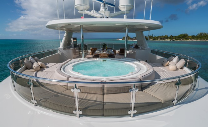 Inviting Jacuzzi with Surrounding Sun Pads