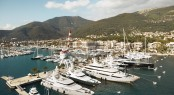 Porto Montenegro in the beautiful superyacht charter destination Montenegro in the Eastern Mediterranean