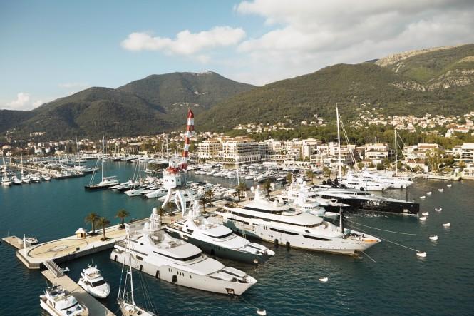 Porto Montenegro in the beautiful superyacht charter destination Montenegro in the Eastern Mediterranean