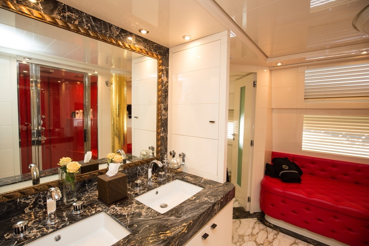 SAMJA Master Bathroom Luxury Yacht Charter Superyacht News