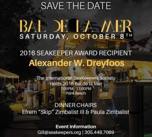 SeaKeepers BAL DE LA MER 2016 To Be Held in Florida