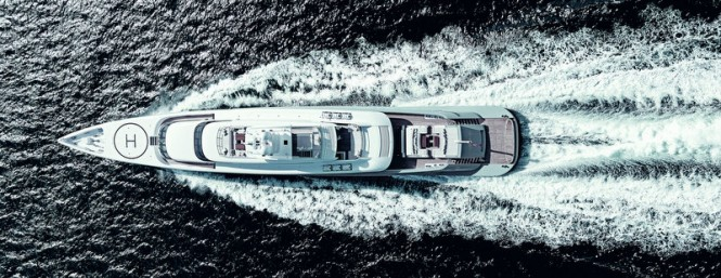Superyacht SILVER FAST from above