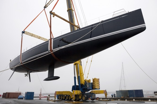 Swan 115 FD sailing yacht SHAMANNA at launch