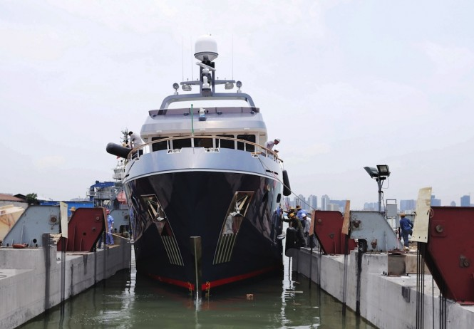 VEDA launched at Bering Yachts